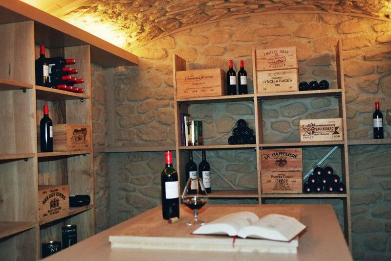 Casiers de stockage cave à vins