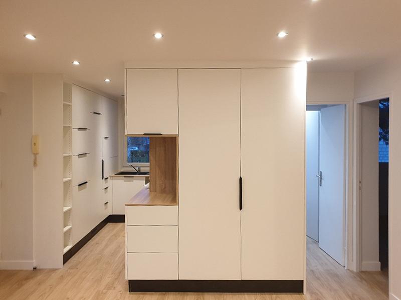 Décloissonnement et optimisation des espace dans un appartement