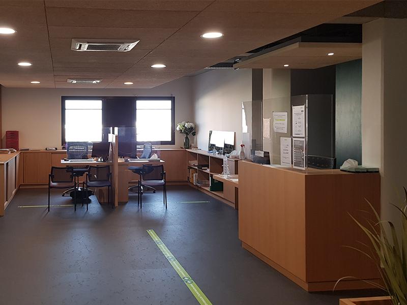 Vue d'ensemble aménagement d'un cabinet d'ophtalmologie dans le Calvados
