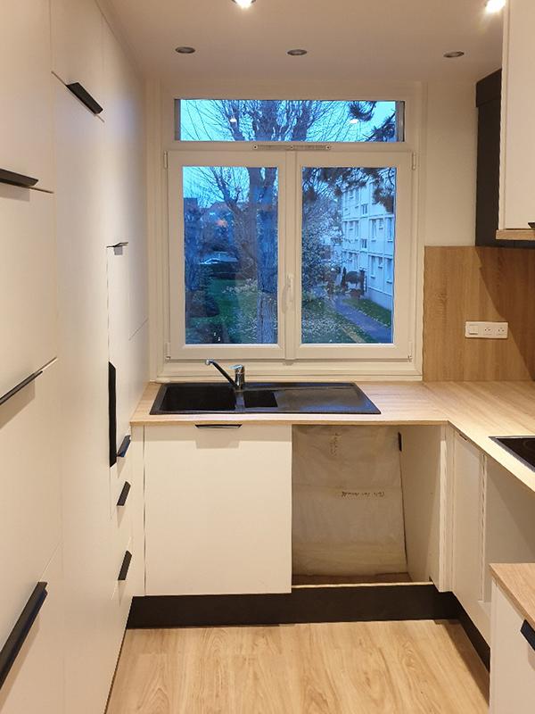 Agencement optimisé dans une petite cuisine