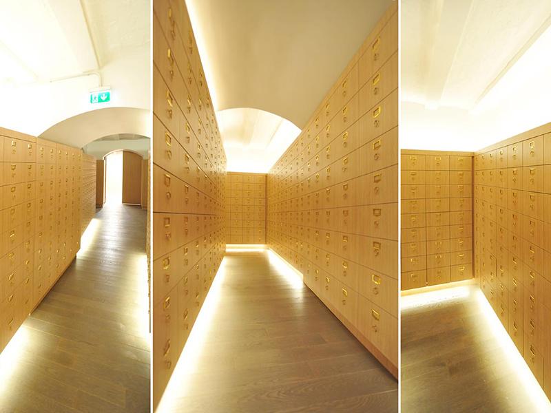 Casiers d'archives en bois pour des bureaux à Paris