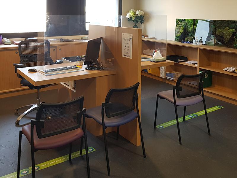 Espaces de confidentialités dans un cabinet d'ophtalmologie