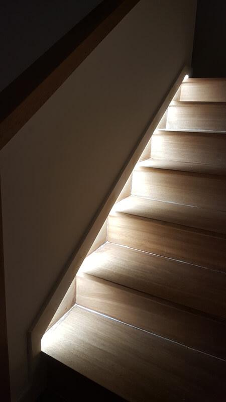 Escaliers éclairés