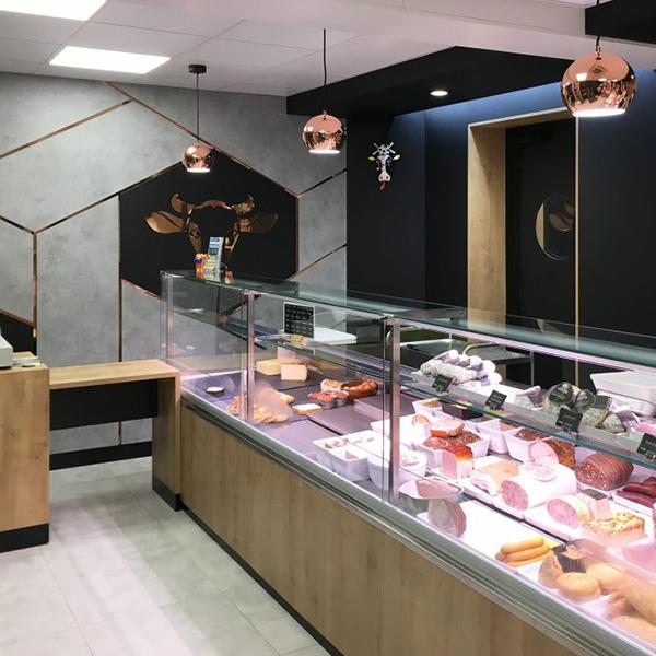 Agencement d'une boucherie- charcuterie - traiteur à Torigny-les-Villes