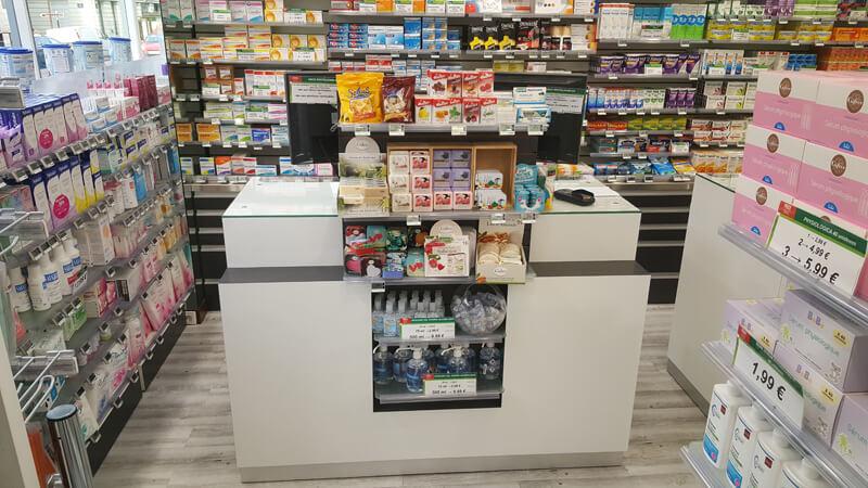 Agencement d'une pharmacie à Versailles