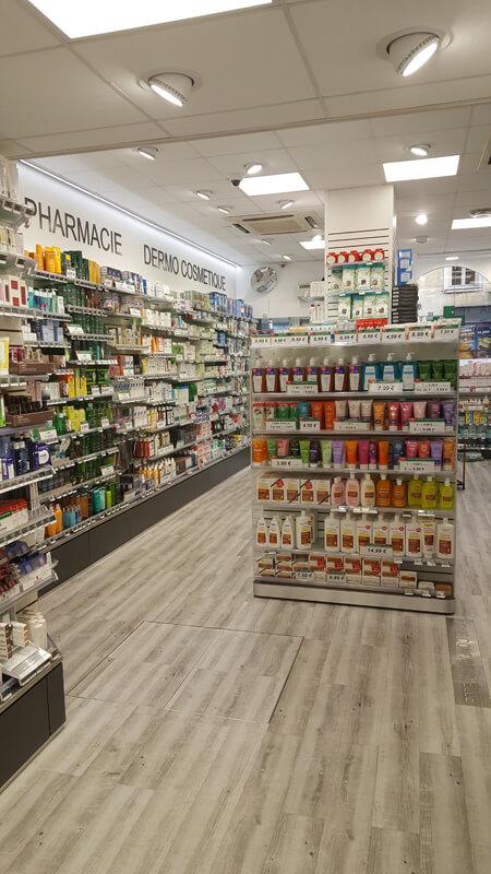 Agencement d'une pharmacie à Versailles avec la pose de nouveaux sols
