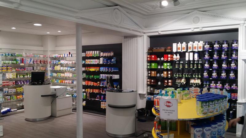 Aménagement d'une pharmacie à Saint-Mandé