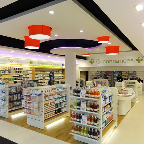 Agencement d'une pharmacie à Caen