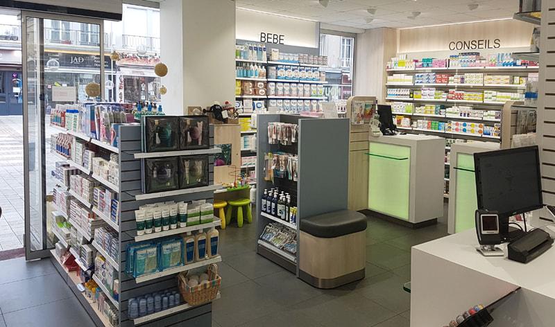 Agencement d'une pharmacie à Coutances