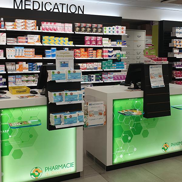 Agencement d'une pharmacie au Havre