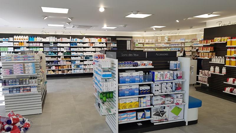 Aménagement moderne pharmacie Ranville