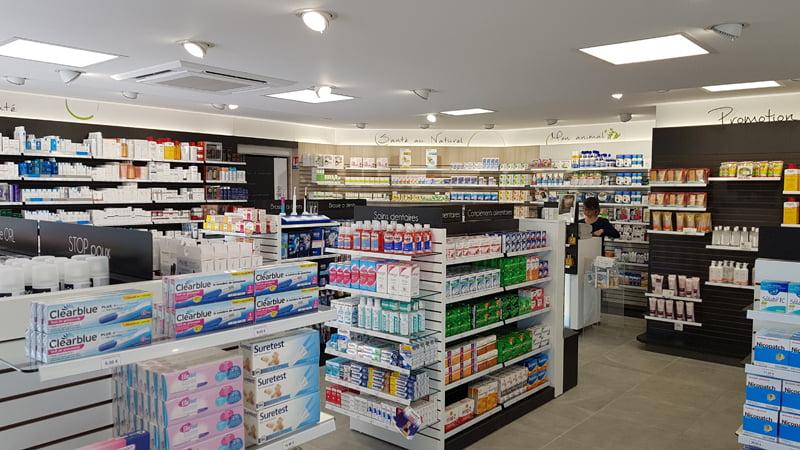 Présentoirs pharmacie Ranville