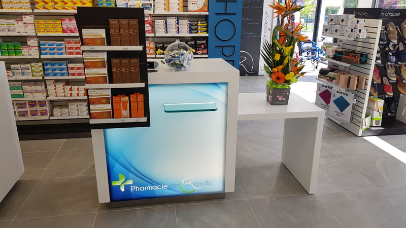 Comptoir de vente pharmacie Ranville