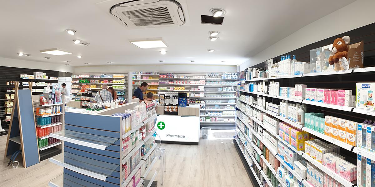 Climatisation d'une pharmacie