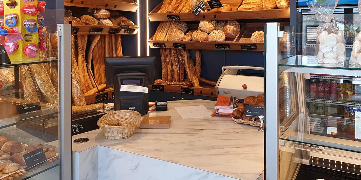 Comptoir de caisse de boulangerie