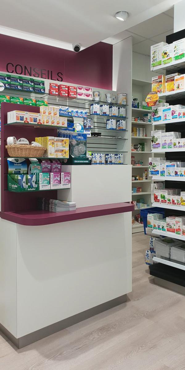 Comptoir conseils en pharmacie