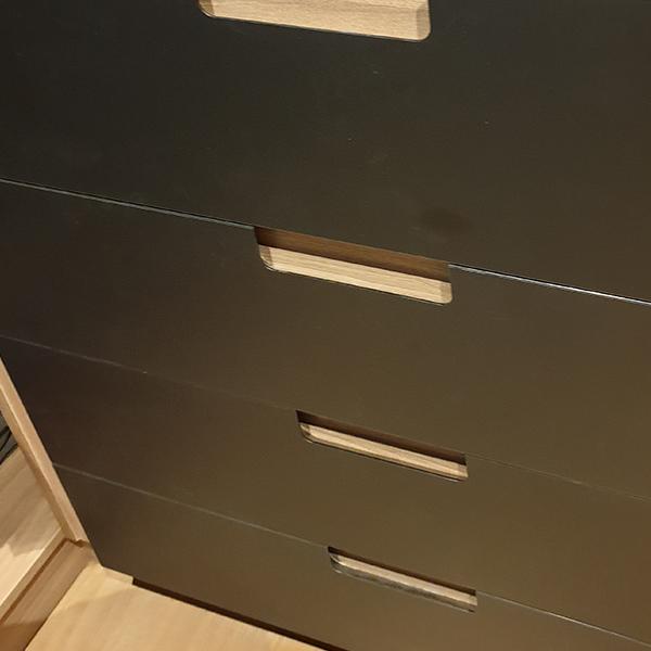 Détails tiroirs dressing sur-mesure