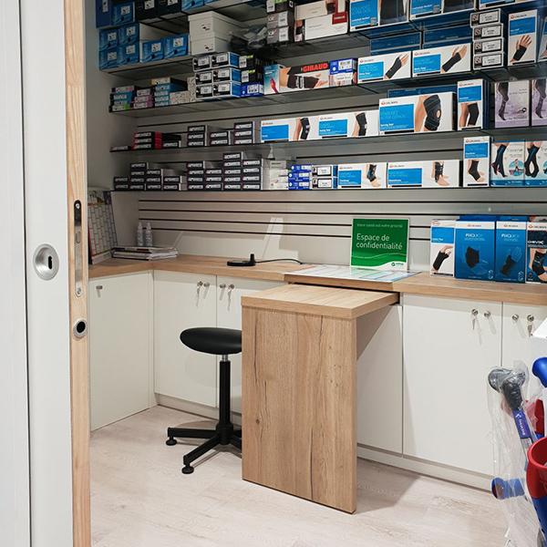 Espace confidentialité pharmacie