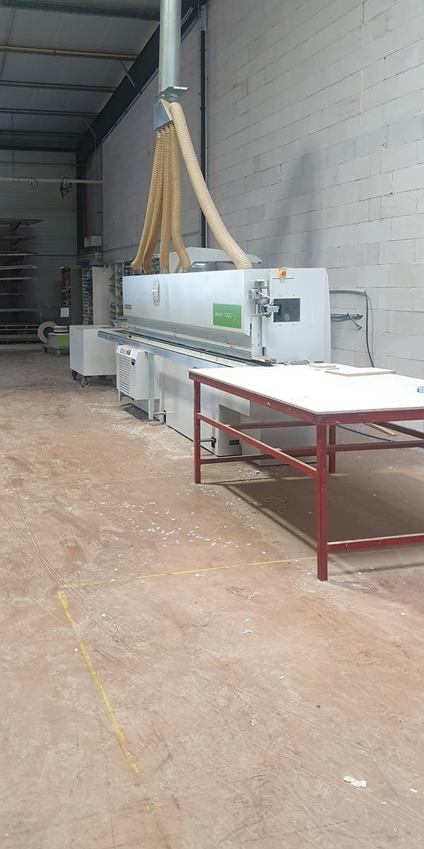 Machines de découpe pour les meubles fabriqués sur-mesure par TM Agencement