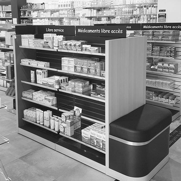 création de mobilier pharmaceutique