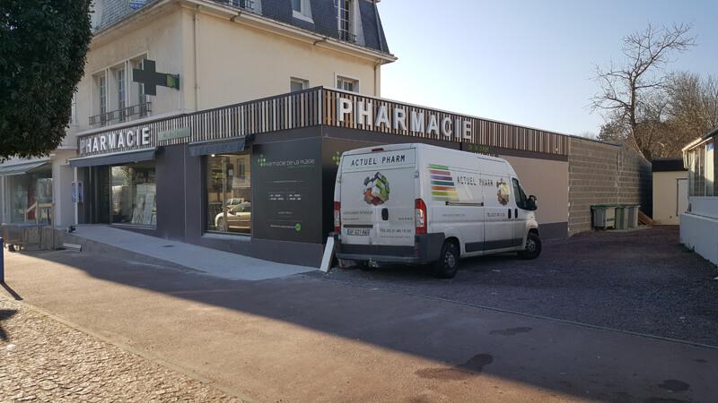 Création de la devanture pour la pharmacie de Merville-Franceville