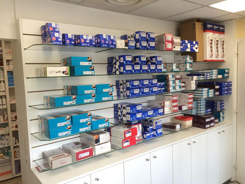 Espace orthopédique de la pharmacie de Merville-Franceville