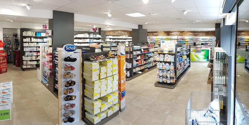 Optimisation et modernisation de la surface de vente d'une pharmacie à Merville-Franceville