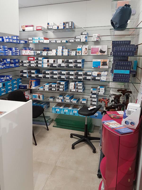 Espace orthopédique dédié et confidentiel dans une pharmacie