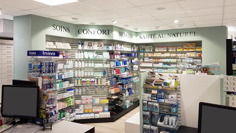 Agencement d'une pharmacie à Saint-Malo