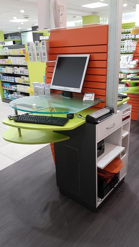 Comptoir de vente optimisé pour les pharmaciens