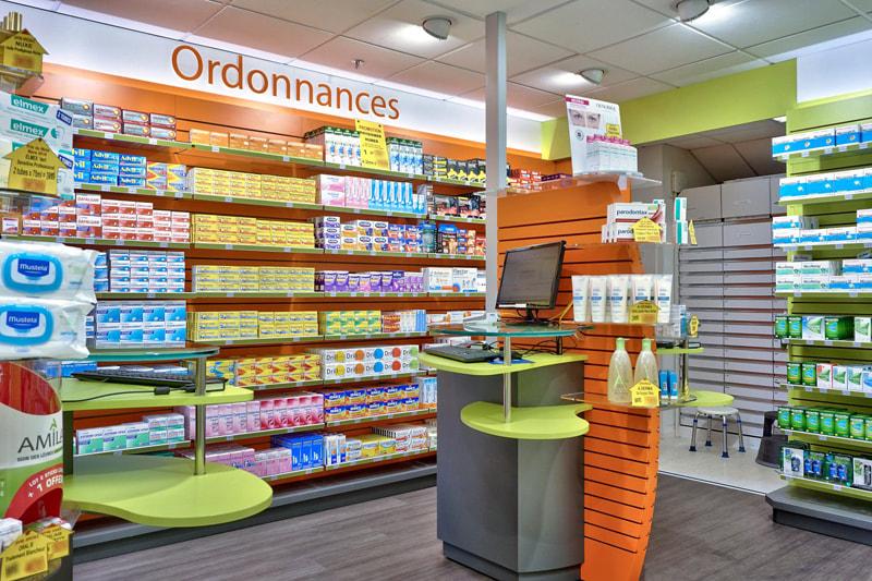 Comptoirs de vente et de conseils pour les patients avec ordonnance