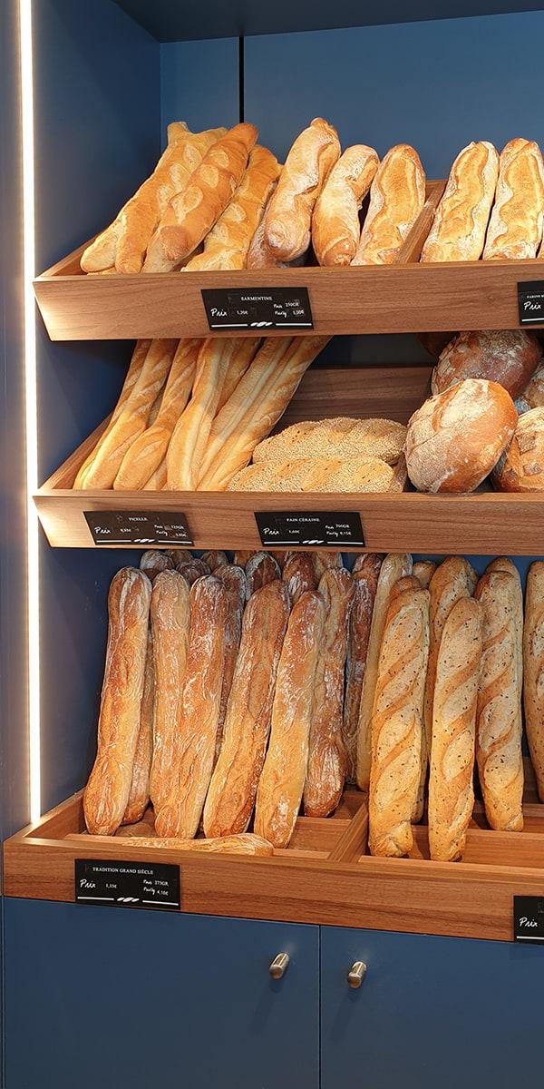 Présentoir lumineux pour les pains