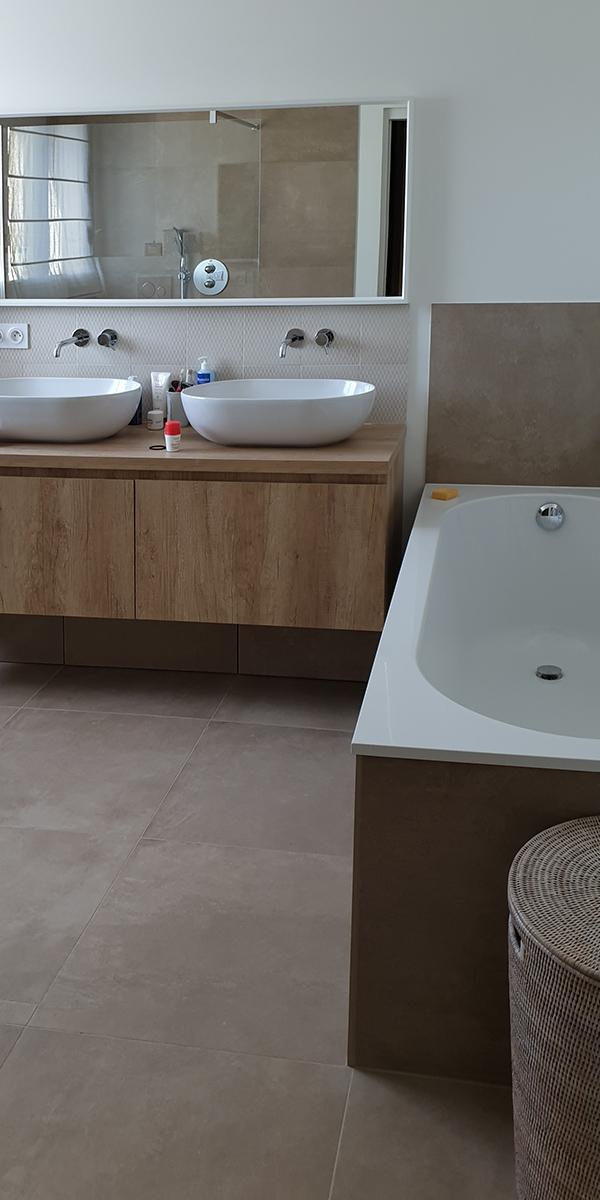Création de mobilier pour une salle de bains