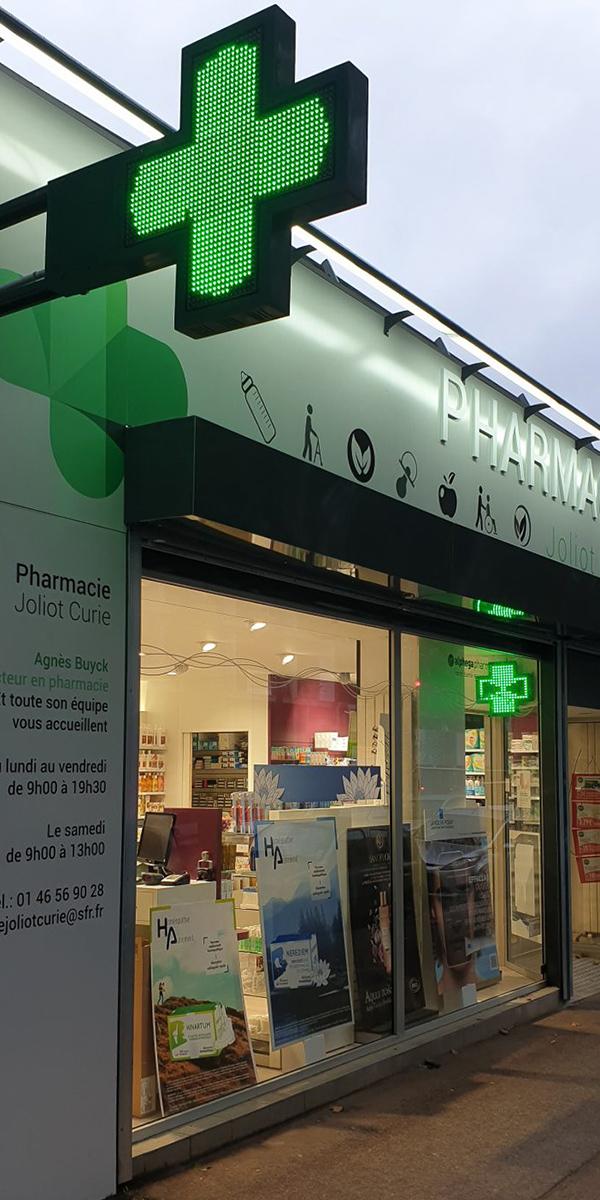 Signalétique extérieure pharmacie