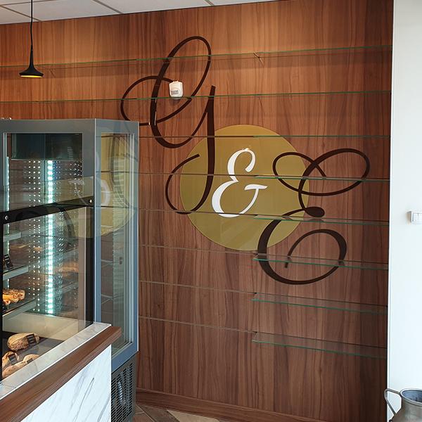 panneaux rainurés modulables pour boulangerie